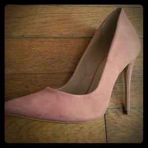5 inch light pink heels